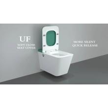 Nouvelle salle de bains moderne sans rebord suspendue au mur