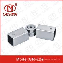 Conector de tubo cuadrado de acero inoxidable ajustable