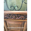 Radio de puerta de madera puerta de entrada de hierro puerta principal diseño de doble puerta