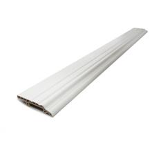 Tableros que bordean decorativos flexibles blancos para el suelo del vinilo