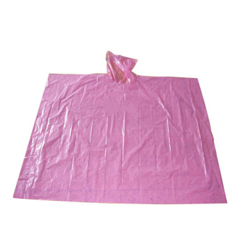 wholesale pe Disposable Pink Rain Poncho