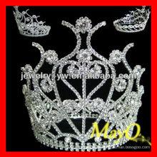 Encantadora princesa accesorios para el cabello cristal pantalones corona tiara para las niñas