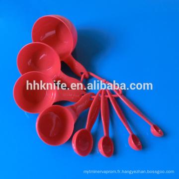 8pcs tasse à mesurer en plastique et cuillère à mesurer