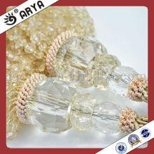 Courroies en perles en perles en perles en cristal blanc avec des perles sur le marché européen