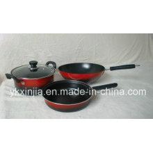 Набор кухонной посуды из углеродистой стали с антипригарным покрытием