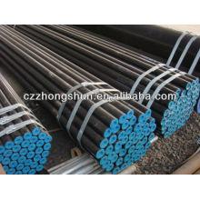 Tuyau en acier sans carbone carbone ASTM A106 Gr B / ASTM A53 / SS400 / ST52B