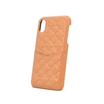 Maßgeschneiderte Slim Leder Card Slot Wallet Phone Case