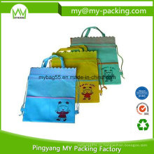 Мешок drawstring Eco Содружественный ткань детский рюкзак