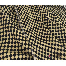 Checkered Pattern Design 100% Viscose Rayon Fabric