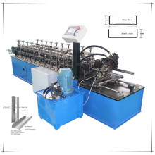 Drywall system stud track forming machine
