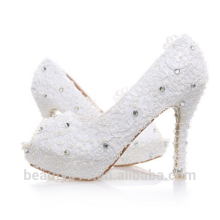 Hot Sale High Heel Platform Woman Shoe Silver/Red Sequins Wedding Shoes WS002