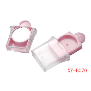 Lovely Pink Compact Powder Container With Mirror