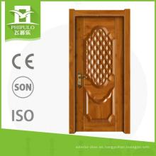 Puerta de madera compuesta exterior de melamina del diseño de la puerta del apartamento con calidad agradable de China