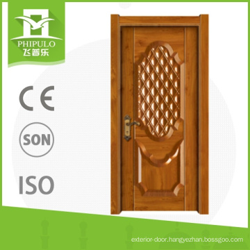 Apartment door design melamine exterior composite wood door with nice quality from china