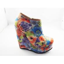 2016 afrikanische gedruckt Stoff Keil Schuhe (HCY03-140)