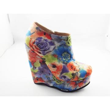 Sapatos de cunha tecido Africano impresso de 2016 (HCY03-140)
