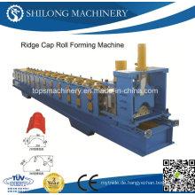 Wellblech-Stahl-Ridge-Plattenbrett-Plattenwalzen-Umformmaschine