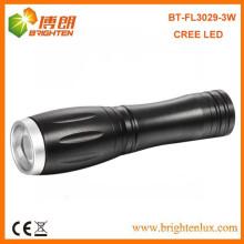 Factory Supply Mini haute puissance Portable Aluminium Zooming Pocket Led Cree 14500 Torche Lampe de poche avec 1 * AA ou 14500 Batterie