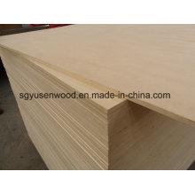 A madeira compensada laminada melamina do tamanho padrão 4 * 8 laminou a madeira compensada do álamo