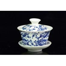Ganoderma Lucidum Flower Porcelain Tea Cup And Saucer Sets