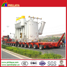 Loading 200t Hydraulic Rotary Axles Modular Trailer