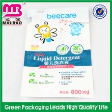 Bolso de empaquetado del polvo detergente material respetuoso del medio ambiente y no tóxico con el canalón para el paquete