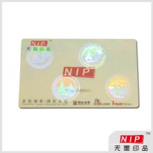 Security transparent hologram sticker for id card