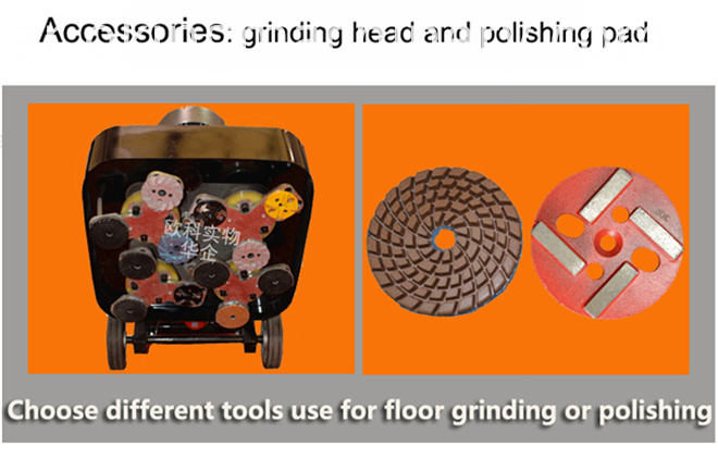 380V Floor Grinder Polishing Machine