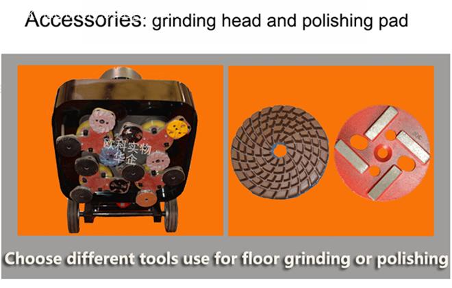 380V Floor Grinder Polishing Machine