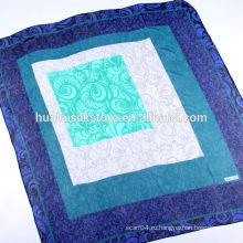 110 * 110 Ручной шелковый шарф Жоржетты квадратный
