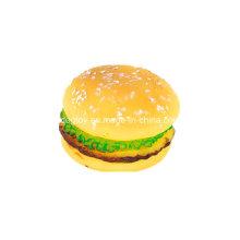 Brinquedo de vinil hambúrguer para animais de estimação