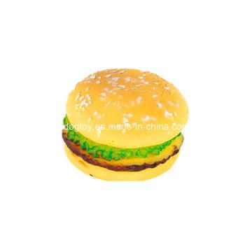 Jouet de nourriture pour animaux de compagnie en vinyle pour hamburger