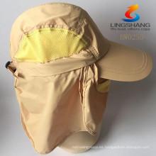 2015 nuevo Deportes al aire libre De excursión Camping Pesca Protección Uv Sombrero Gorras Máscara de rostro de secado rápido pescador Ajustable Sombreros