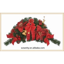 Artificial flowers christmas wreaths bulk wholesale