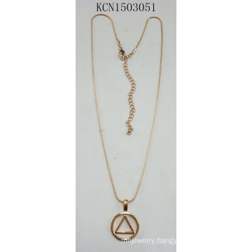 Wholesale Triangle Necklace with Metal Decoration