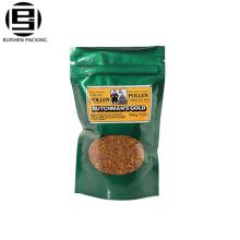 Les sachets en plastique de fermeture éclair de glissière de fermeture éclair de pe de catégorie comestible pe avec le sac refermable de fenêtre / sac de tirette