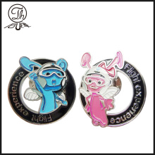 Cartoon soft enamel pin badge