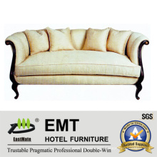 Modern Style Hotel Sofa Set Wooden Furniture Set (EMT-SF33)