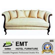 Modern Style Hotel Sofa Set Conjunto de móveis de madeira (EMT-SF33)