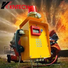 Teléfono antidisturbios para el sistema de seguridad Minning Industrial Communication Knzd-46