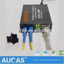 Convertidores de medios de Ethernet para computadoras Mercado de China Convertidores de señales de TV digitales Voltajes Convertidor de medios de fibra de transmisión 10 / 100m