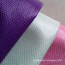Basketball Design PVC Leather for Bags and Furniture, Bright, Spun-lace, Double Color Effect