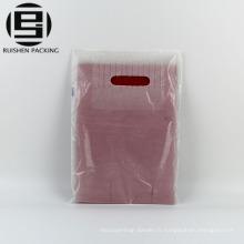 Pas cher coupé hdpe en plastique boutique punch sacs