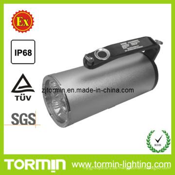 Wieder aufladbare explosionssichere LED-Fackel-Lampen-Suchlampe in der gefährlichen Position