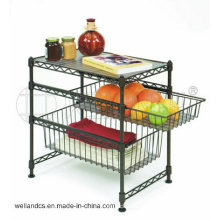 Powder Coating Metal Mini Home Wire Shelf, DIY Style (CJ452045C3E)
