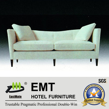 Modern Simple White Style Sofa Set Star Hotel Sofa (EMT-SF46)