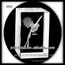 K9 3D Laser Untergrund Vogel innerhalb Crystal Rectangle