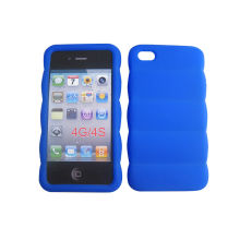 Heat Resistant Silicone Cell Phone Case, Cool Silicone Cover For Iphone With Debossed Logo