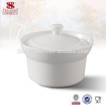 Vajilla de porcelana de haoxin de Guangzhou Sopera de sopa de cerámica blanca