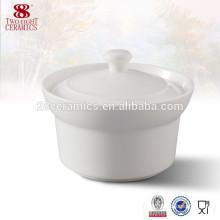 Guangzhou haoxin porcelain dinnerware white ceramic soup tureen